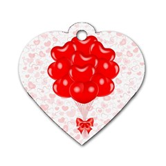 Abstract Background Balloon Dog Tag Heart (Two Sides)
