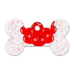 Abstract Background Balloon Dog Tag Bone (One Side)