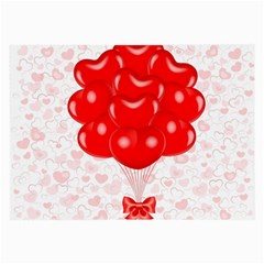 Abstract Background Balloon Large Glasses Cloth (2 Side)