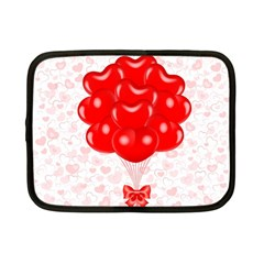 Abstract Background Balloon Netbook Case (Small)