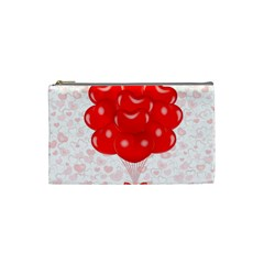 Abstract Background Balloon Cosmetic Bag (small)