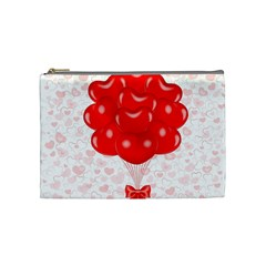 Abstract Background Balloon Cosmetic Bag (medium)