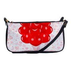Abstract Background Balloon Shoulder Clutch Bags