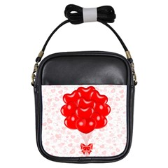 Abstract Background Balloon Girls Sling Bags