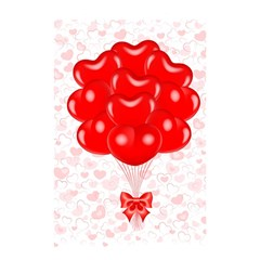 Abstract Background Balloon Shower Curtain 48  X 72  (small)