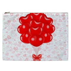 Abstract Background Balloon Cosmetic Bag (xxl)