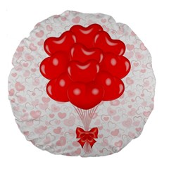 Abstract Background Balloon Large 18  Premium Round Cushions