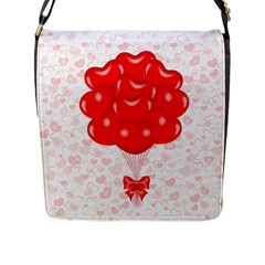 Abstract Background Balloon Flap Messenger Bag (l)