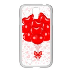 Abstract Background Balloon Samsung Galaxy S4 I9500/ I9505 Case (white)