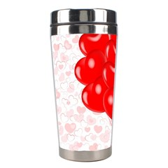 Abstract Background Balloon Stainless Steel Travel Tumblers