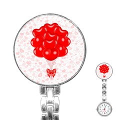 Abstract Background Balloon Stainless Steel Nurses Watch