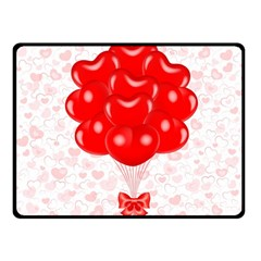 Abstract Background Balloon Double Sided Fleece Blanket (small)