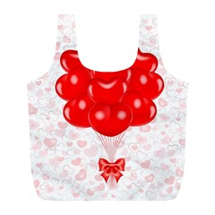 Abstract Background Balloon Full Print Recycle Bags (l)