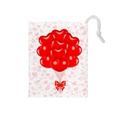 Abstract Background Balloon Drawstring Pouches (medium)