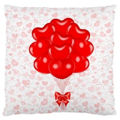 Abstract Background Balloon Large Flano Cushion Case (one Side)