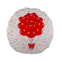 Abstract Background Balloon Standard 15  Premium Flano Round Cushions