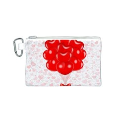 Abstract Background Balloon Canvas Cosmetic Bag (S)