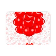 Abstract Background Balloon Double Sided Flano Blanket (mini)