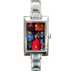 3d And Abstract Rectangle Italian Charm Watch