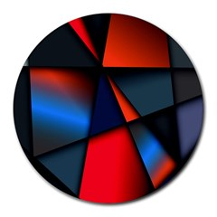 3d And Abstract Round Mousepads