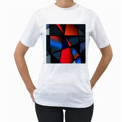 3d And Abstract Women s T Shirt (white) (two Sided)