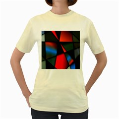 3d And Abstract Women s Yellow T Shirt
