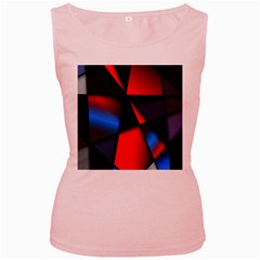 3d And Abstract Women s Pink Tank Top
