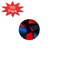 3d And Abstract 1  Mini Buttons (100 Pack)