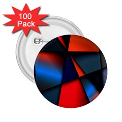 3d And Abstract 2 25  Buttons (100 Pack)