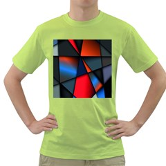 3d And Abstract Green T Shirt