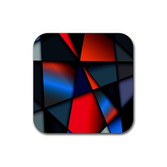 3d And Abstract Rubber Coaster (square)