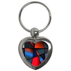 3d And Abstract Key Chains (heart)