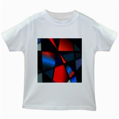 3d And Abstract Kids White T Shirts