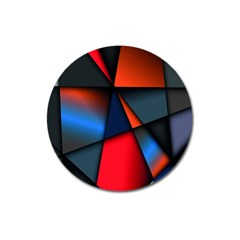 3d And Abstract Magnet 3  (round)