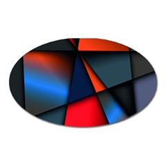3d And Abstract Oval Magnet