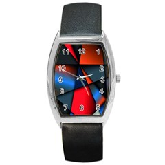 3d And Abstract Barrel Style Metal Watch