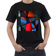 3d And Abstract Men s T Shirt (black) (two Sided)