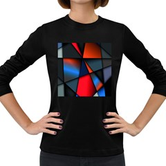 3d And Abstract Women s Long Sleeve Dark T Shirts