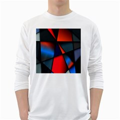 3d And Abstract White Long Sleeve T Shirts