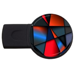 3d And Abstract Usb Flash Drive Round (4 Gb)