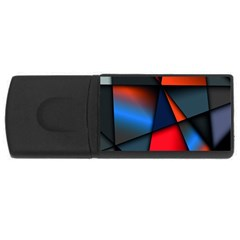 3d And Abstract Usb Flash Drive Rectangular (4 Gb)