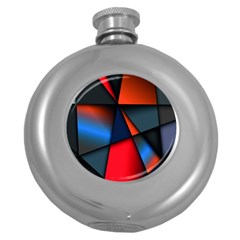 3d And Abstract Round Hip Flask (5 oz)