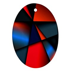 3d And Abstract Oval Ornament (two Sides)