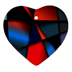 3d And Abstract Heart Ornament (two Sides)