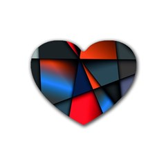 3d And Abstract Rubber Coaster (Heart)