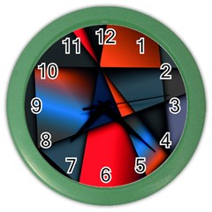3d And Abstract Color Wall Clocks