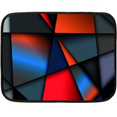 3d And Abstract Double Sided Fleece Blanket (mini)