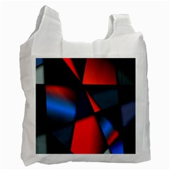 3d And Abstract Recycle Bag (one Side)