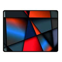 3d And Abstract Fleece Blanket (Small)