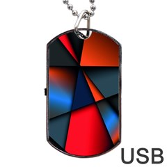 3d And Abstract Dog Tag Usb Flash (two Sides)